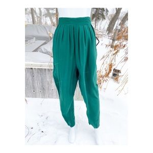 80s High Waist Pleat Front Trousers Tapered Jewel